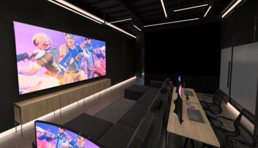 A rendering of Team SoloMid's $13-million, 25,000-square foot esports training facility in Playa Vista.(Credit: NxT Studios via Los Angeles Times)