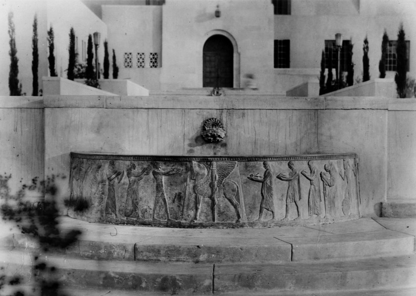 The Well of the Scribes, missing from Los Angeles Central Library since 1969, is seen in an undated photo. (Credit: L.A. Public Library via Los Angeles Times)