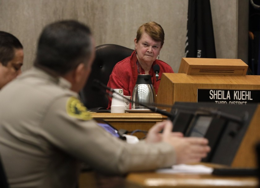 L.A. County Supervisor Sheila Kuehl is seen in an undated photo. (Katie Falkenberg / Los Angeles Times)