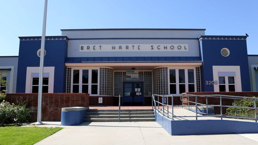 Bret Harte Elementary in Burbank is seen in an undated photo. (Credit: Raul Roa / Burbank Leader)