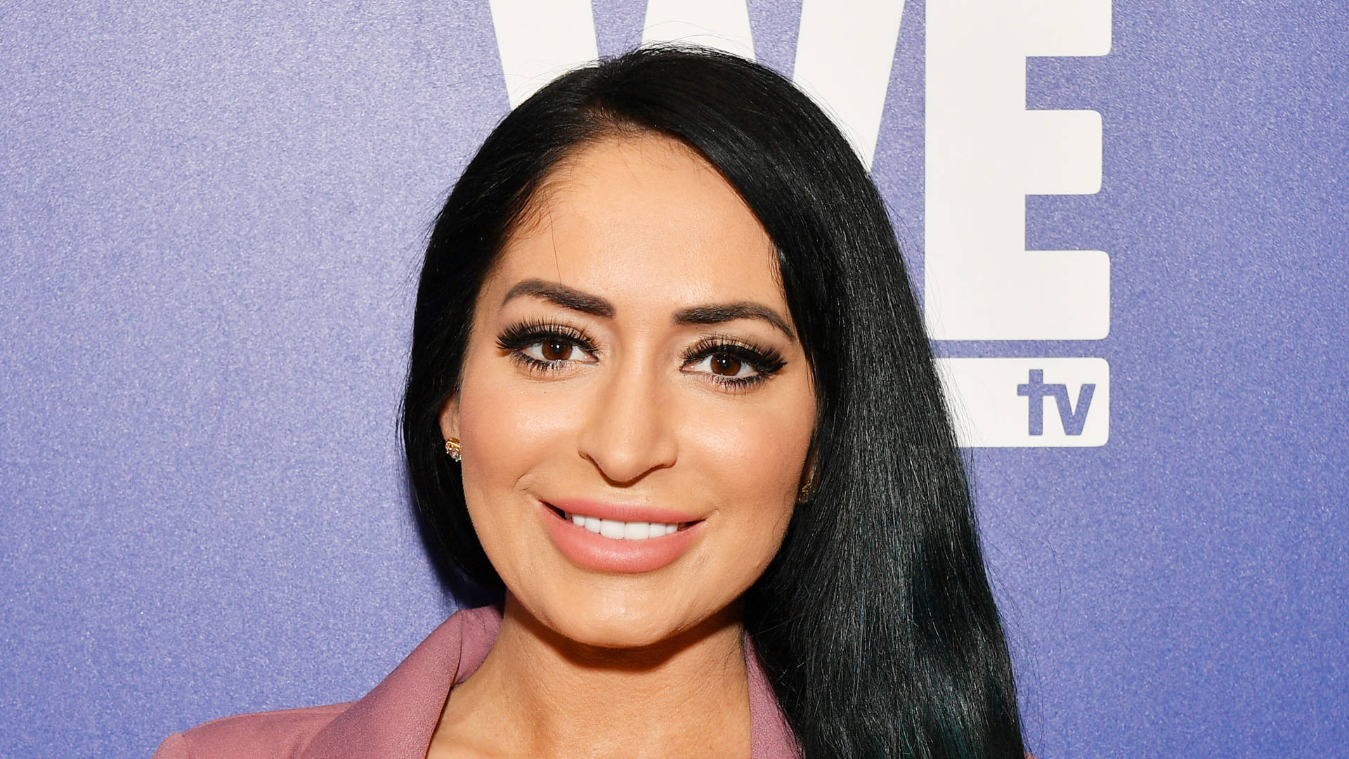 "Angelina Pivarnick attends WEtv's premiere fashion event celebrating the return of ""Bridezillas"" on March 13, 2019, at Angel Orensanz Foundation in New York City. (Credit: Dia Dipasupil/Getty Images for WEtv)"