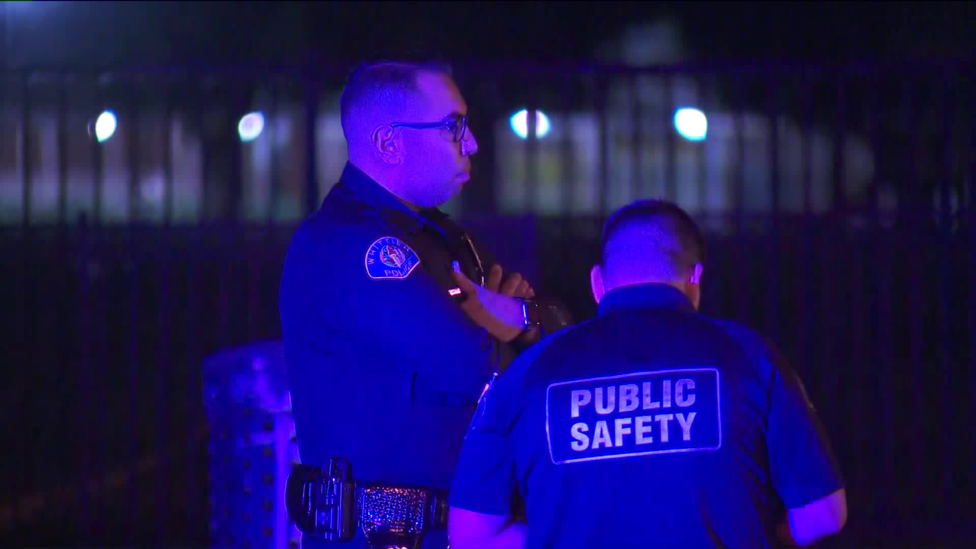 Police respond to the scene was a man was fatally stabbed in Santa Fe Springs on Sept. 25, 2019. (Credit: KTLA)