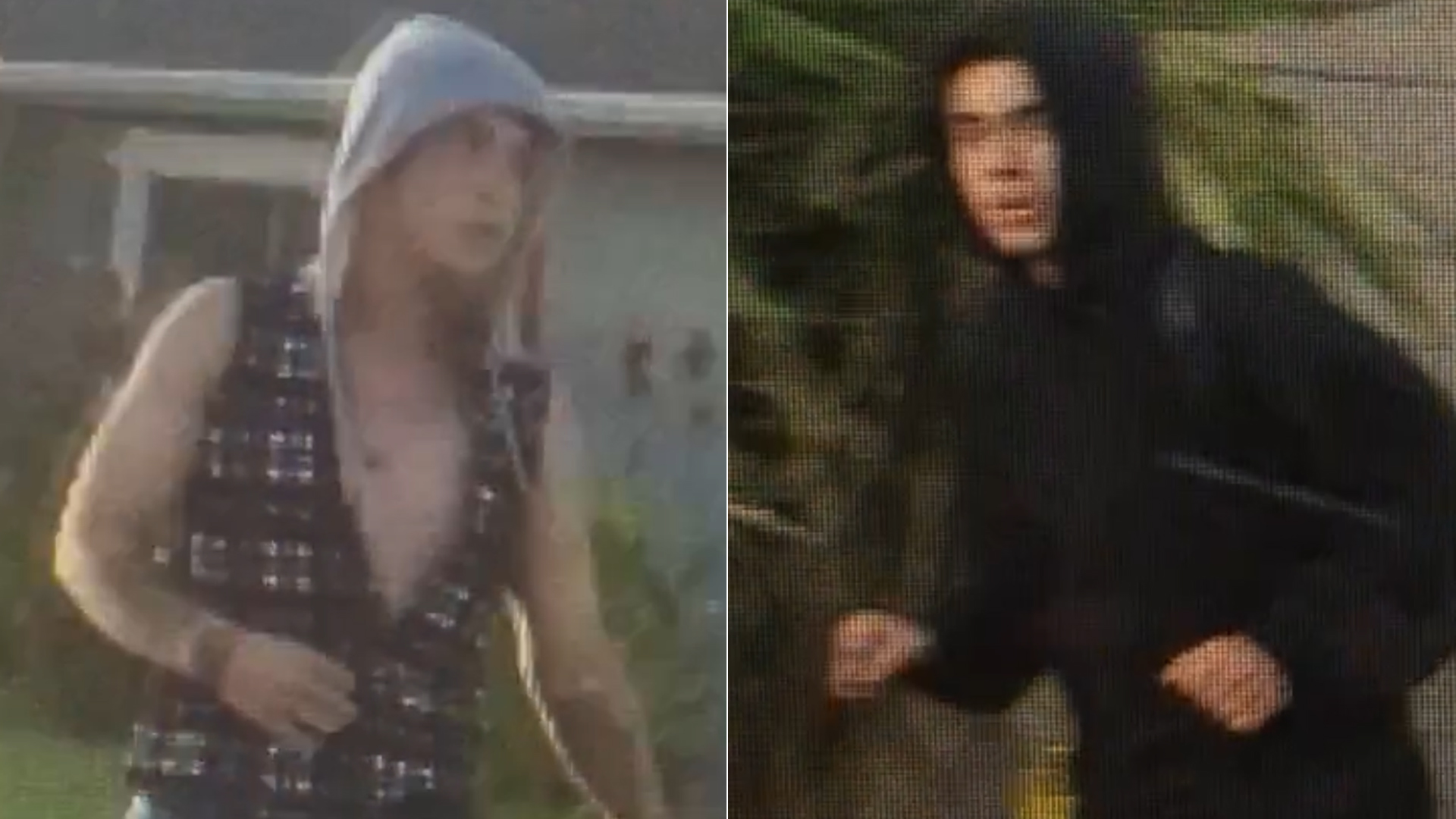 Two people sought by the Ventura County Sheriff's Office for allegedly crashing a truck they stole in Fillmore are shown in photos released by the agency on Sept. 23, 2019.