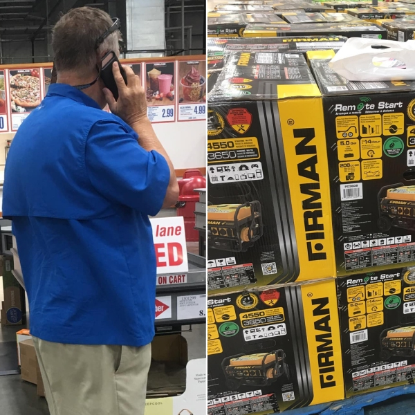 The man walked into a Costco and spent nearly $50,000 on supplies to help people in the Bahamas in the wake of the devastation caused by Hurricane Dorian. (Credit: Alec Sprague)