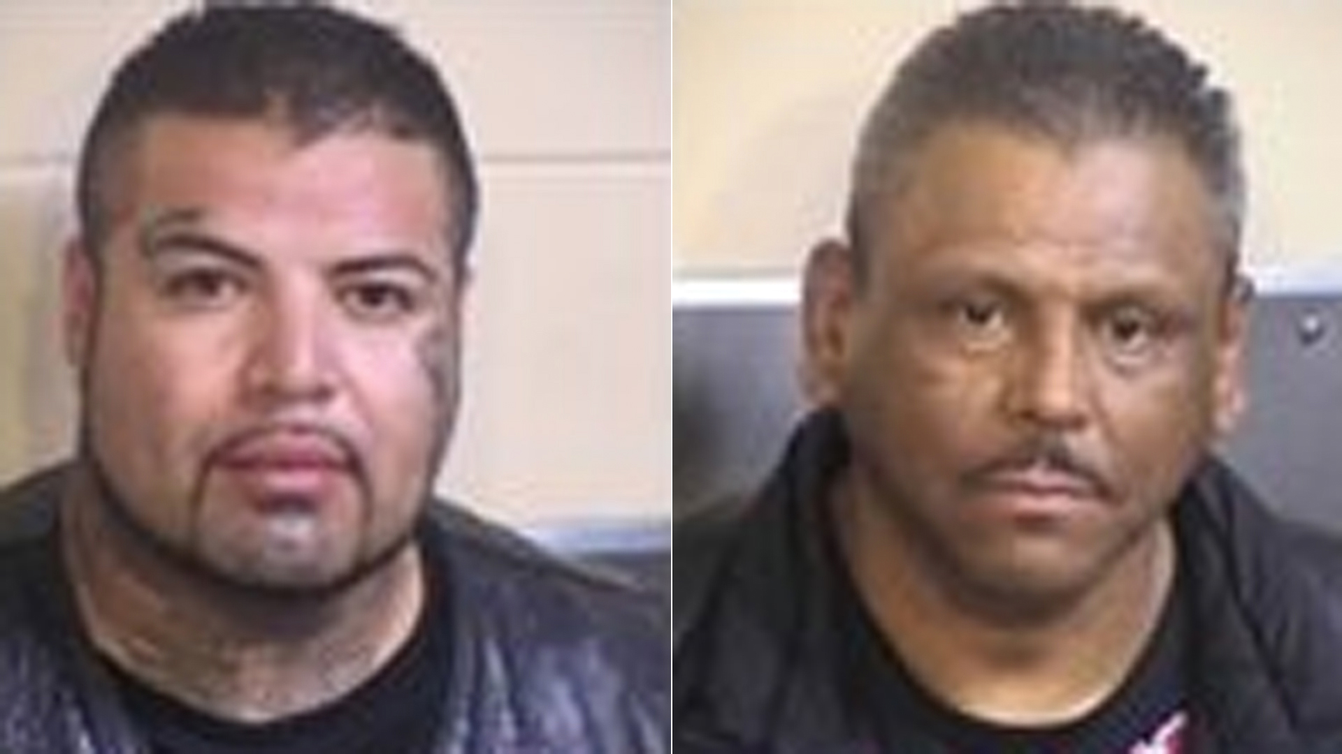 Of those arrested, only Rey Rodriguez, left, and Stephen Meza, right, were accused of being gang members in possession of firearms. (Credit: Fresno County Sheriff's Office)