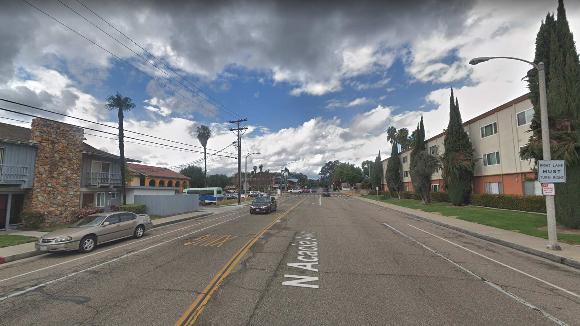 The 400 block of North Acacia Avenue in Fullerton is seen in an image from Google Maps.