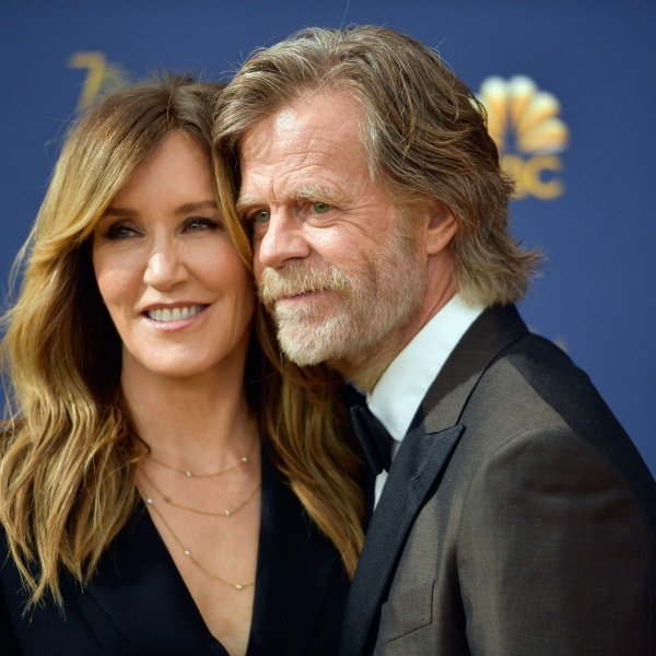 Felicity Huffman and William H. Macy attend the 70th Emmy Awards on Sep. 17, 2018, in Los Angeles. (Credit: Matt Winkelmeyer/Getty Images)