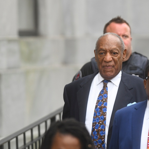 Bill Cosby departs the Montgomery County Courthouse on the first day of sentencing in his sexual assault trial on Sept. 24, 2018, in Norristown, Penn. (Credit: Mark Makela/Getty Images)