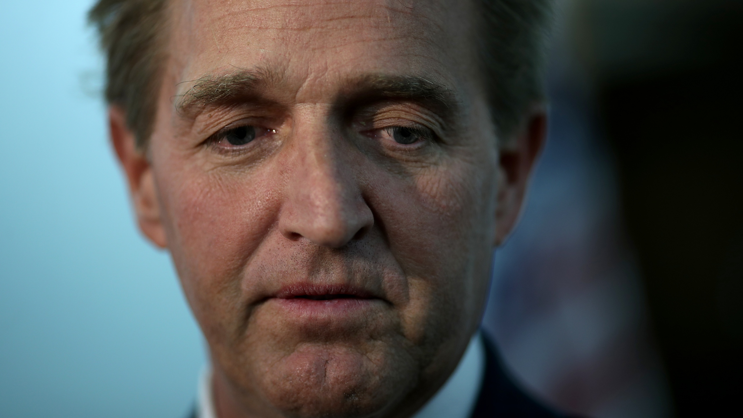 Jeff Flake speaks to reporters following a Senate Judiciary Committee hearing on Capitol Hill Nov. 15, 2018 in Washington, D.C. (Credit: Win McNamee/Getty Images)