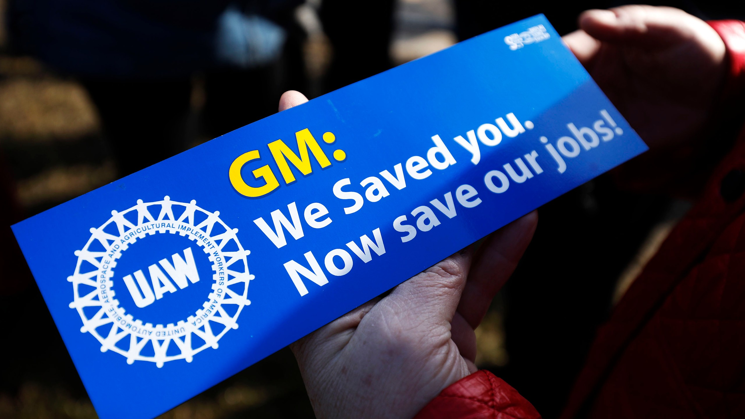 United Auto Workers members hold a prayer vigil at the General Motors Warren Transmission Operations Plant on Feb. 22, 2019, in Warren, Mich. Almost 300 people were being laid off at the plant as a result of GM's decision to idle the Warren facility. (Credit: Bill Pugliano/Getty Images)
