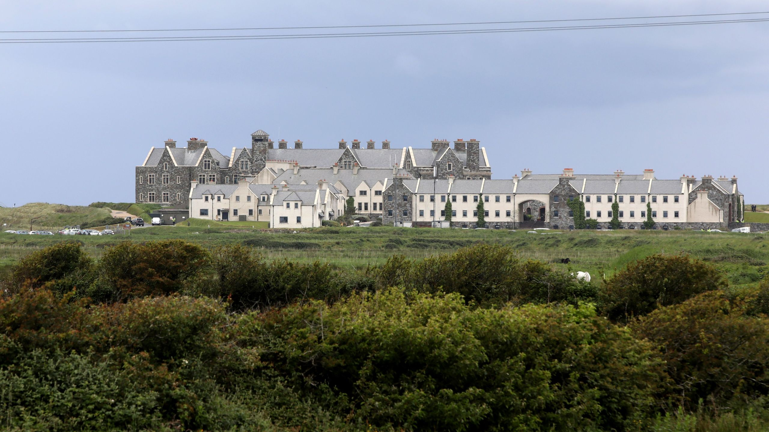Trump International Golf Links and Hotel in Doonberg, Ireland, is pictured on June 4, 2019, ahead of a visit from U.S. President Donald Trump. (Credit: Paul Faith / AFP / Getty Images)