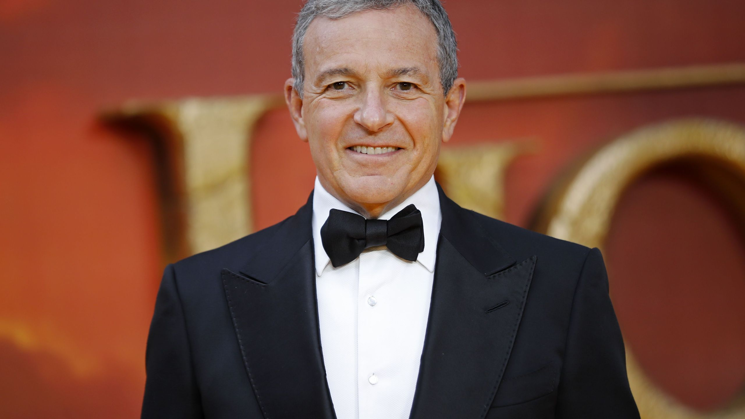 Disney CEO Robert Iger poses on the red carpet upon arriving for the European premiere of the film The Lion King in London on July 14, 2019. (Credit: TOLGA AKMEN/AFP/Getty Images)