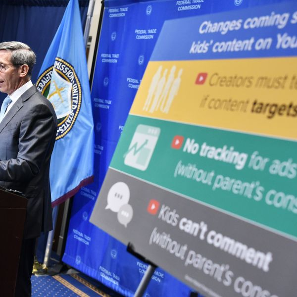 Federal Trade Commission (FTC) Chairman Joe Simon speaks during a press conference on September 4, 2019, at the FTC headquarters in Washington, DC.(Credit: MANDEL NGAN/AFP/Getty Images)