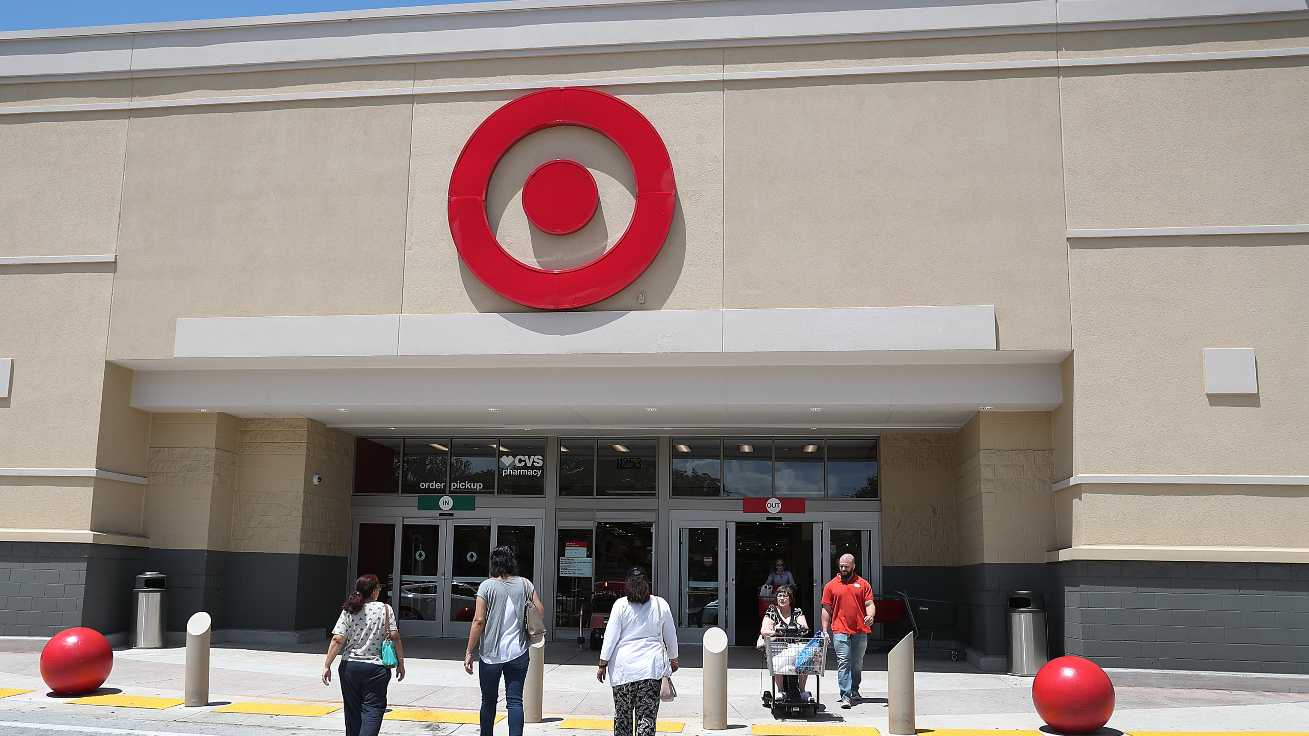 A Target store is seen on August 21, 2019 in Pembroke Pines, Florida. (Credit: Joe Raedle/Getty Images)