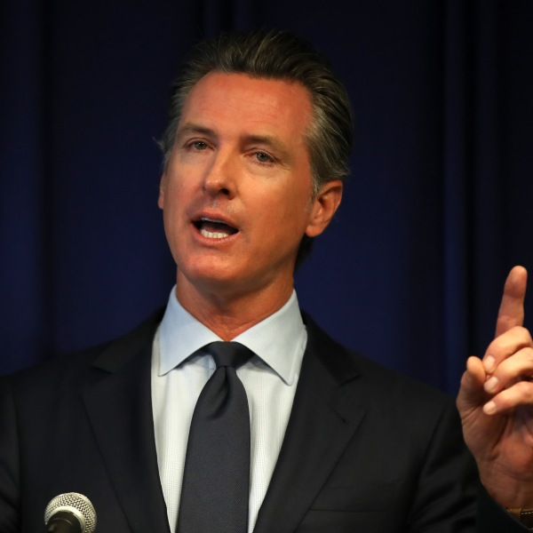 Gov. Gavin Newsom speaks during a news conference in Sacramento on Sept. 18, 2019. (Credit: Justin Sullivan / Getty Images)