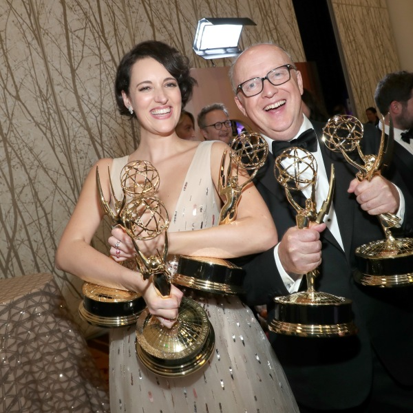 Phoebe Waller-Bridge and Harry Bradbeer attend IMDb LIVE after the Emmys on Sept. 22, 2019 in Los Angeles. (Credit: Rich Polk/Getty Images for IMDb)