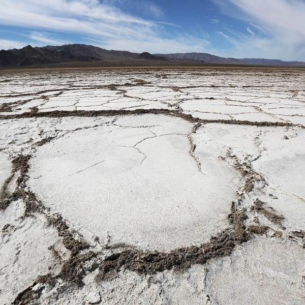 Bristol Lake, a dry lake bed, stands in the Mojave desert on Sept. 22, 2019 in Amboy, Calif. (Credit: Mario Tama/Getty Images)