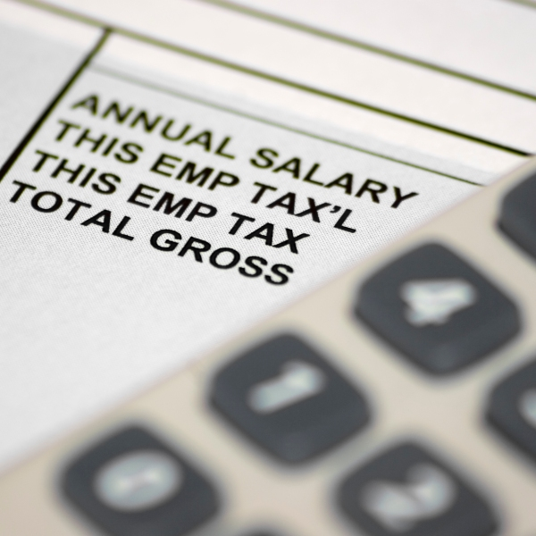 A pay slip is seen in this file photo. (Credit: Getty Images)