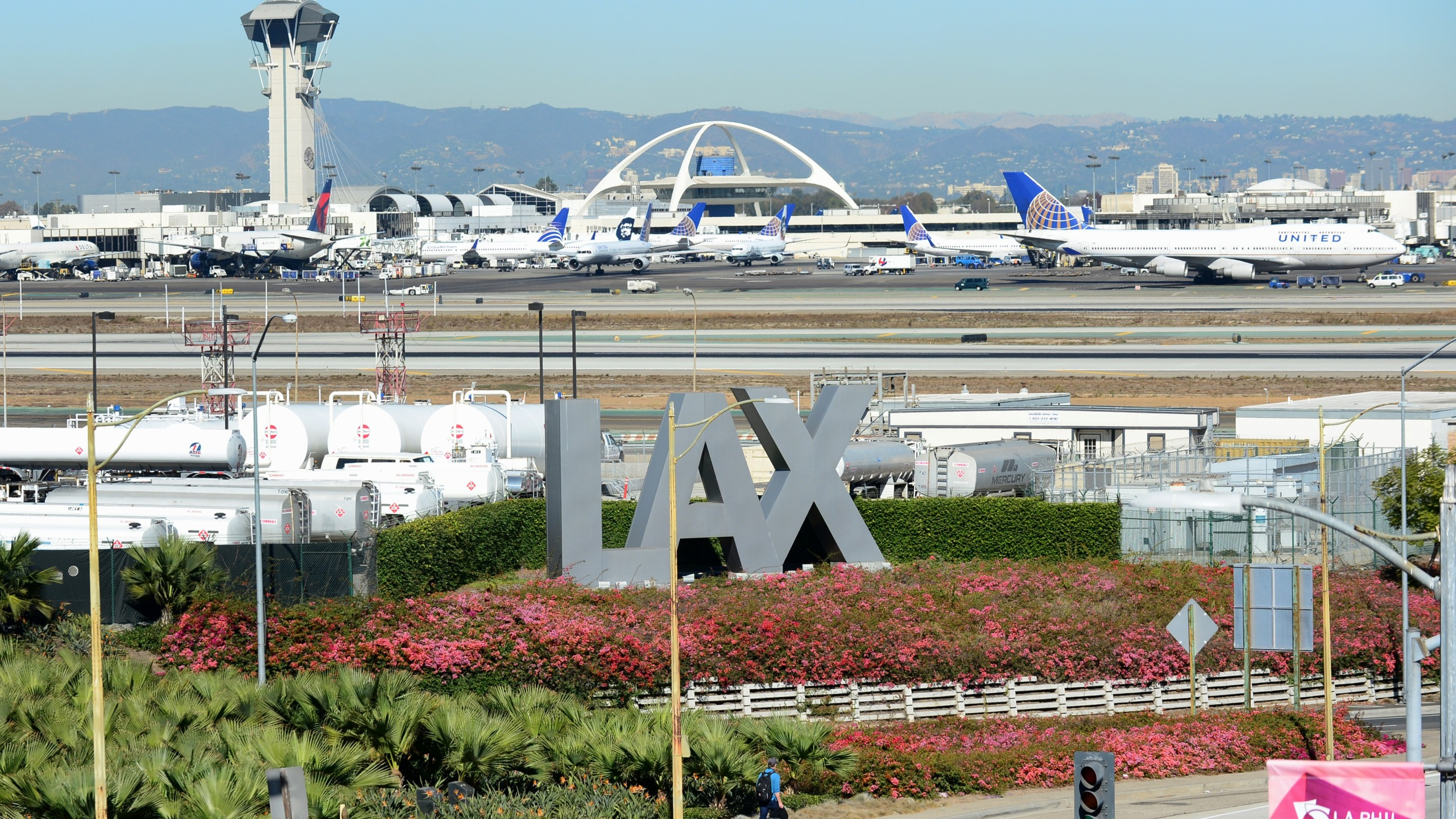 The Los Angeles International Airport is seen in a file photo. (Credit: FREDERIC J. BROWN/AFP/Getty Images)
