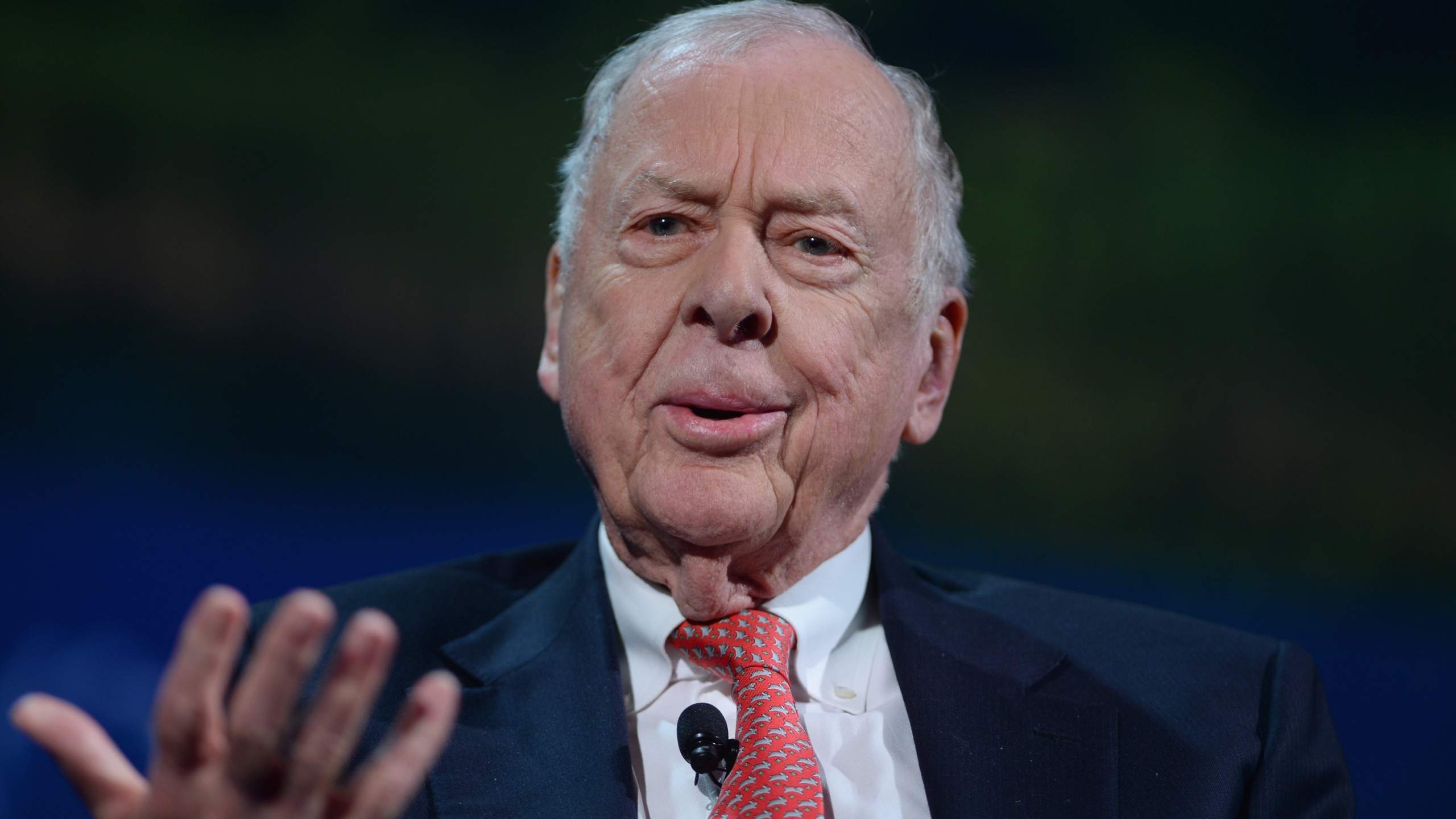 Founder and chairman of BP Capital Management T. Boone Pickens speaks at the 2016 Concordia Summit at Grand Hyatt in New York Sept. 19, 2016. (Credit: Riccardo Savi/Getty Images)