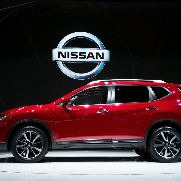 Nissan Rogue is displayed at the New York International Auto Show, April 12, 2017 at the Jacob K. Javits Convention Center in New York City. (Credit: Drew Angerer/Getty Images)