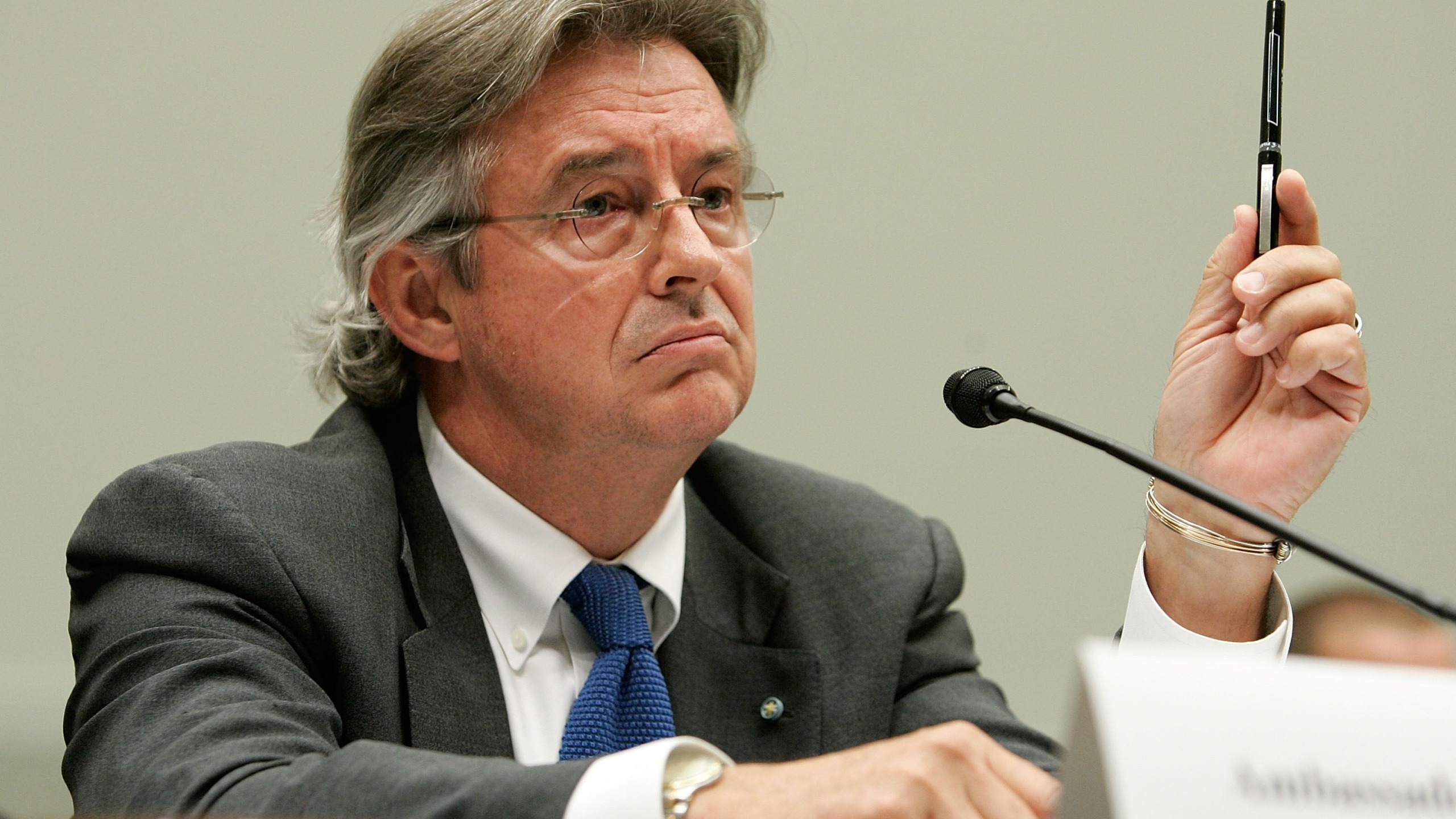 Former Ambassador Joseph Wilson testifies during a hearing before the House Judiciary Committee on July 11, 2007, in Washington, DC. (Credit: Alex Wong/Getty Images)