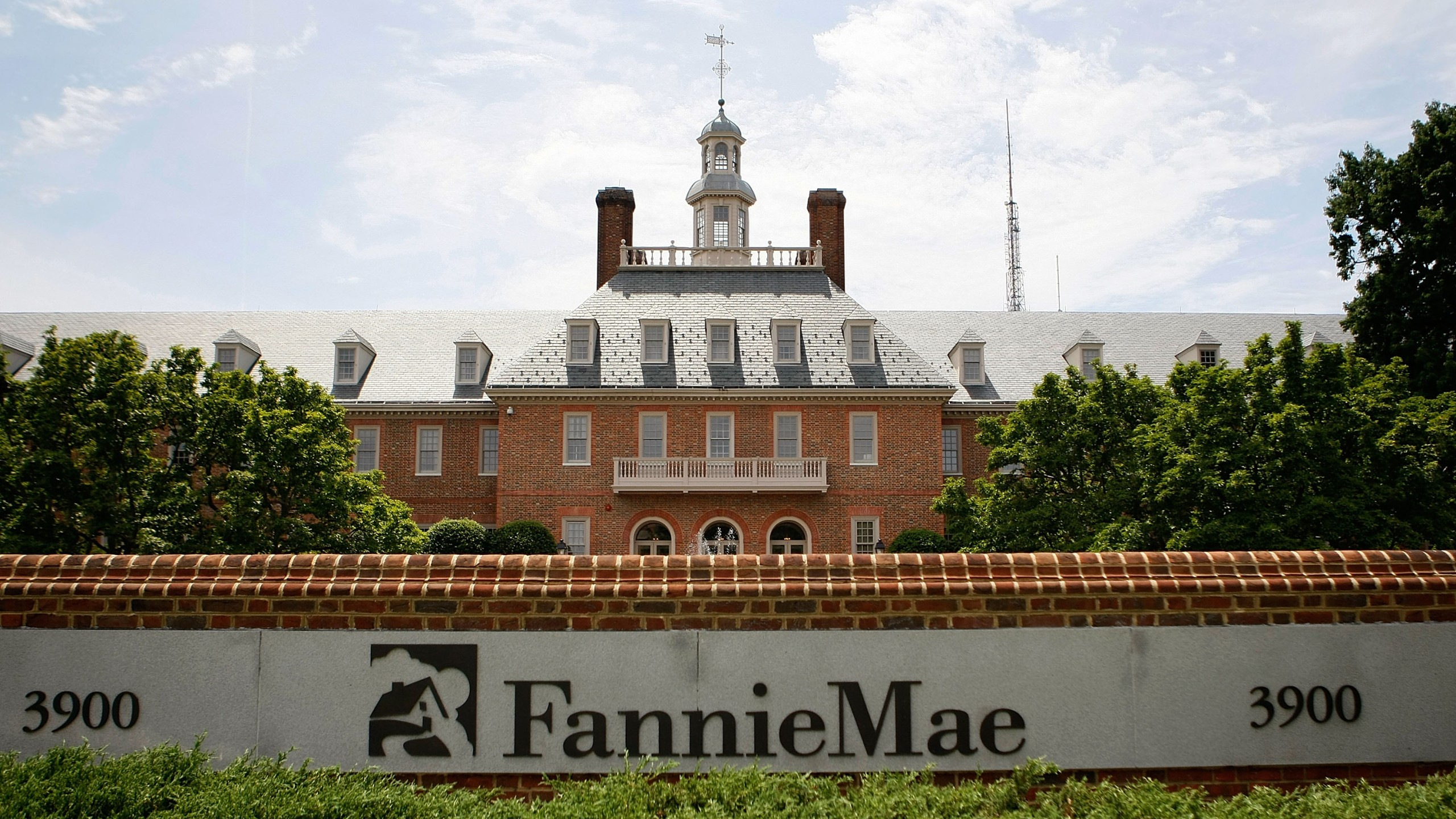The Fannie Mae headquarters in Washington, D.C., is seen in a July 10, 2008, file photo. (Credit: Mark Wilson / Getty Images)