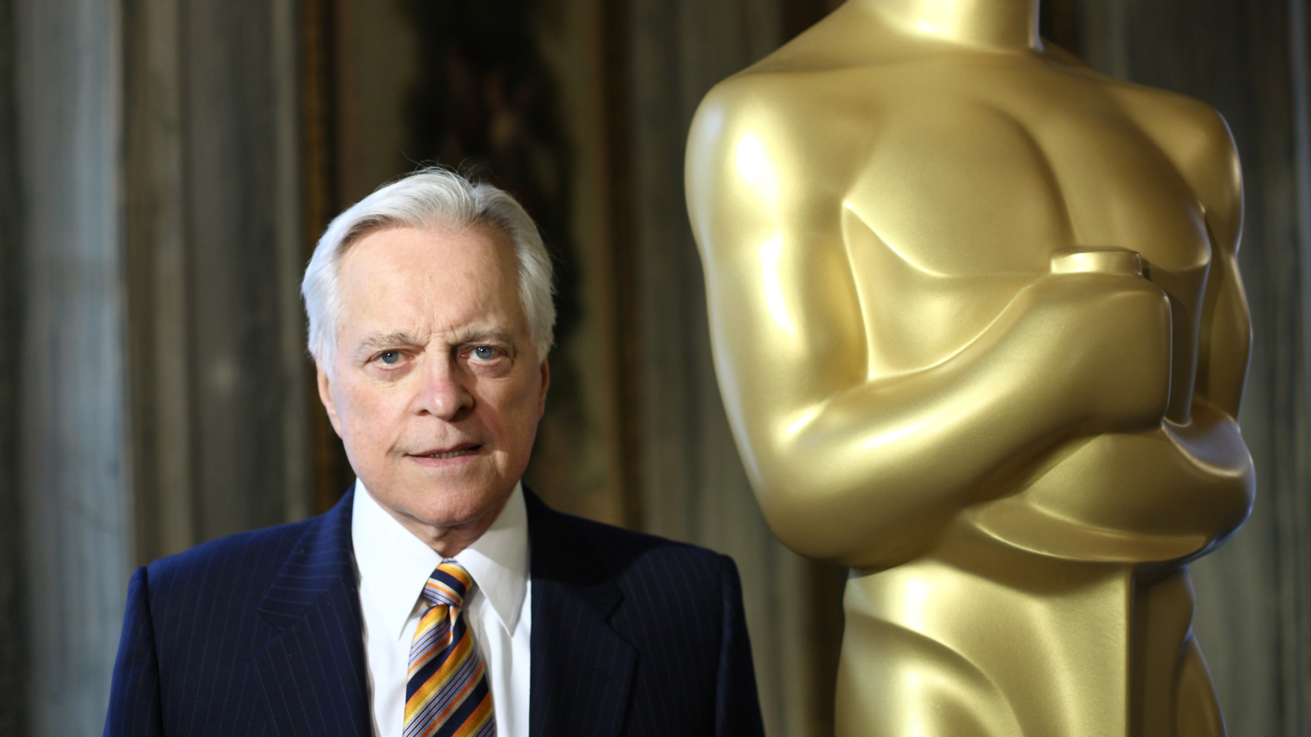 Official biographer of the Academy Awards Robert Osborne attends the Oscar Party Preview at GILT at The New York Palace Hotel on February 18, 2010 in New York City. (Credit: Neilson Barnard/Getty Images)