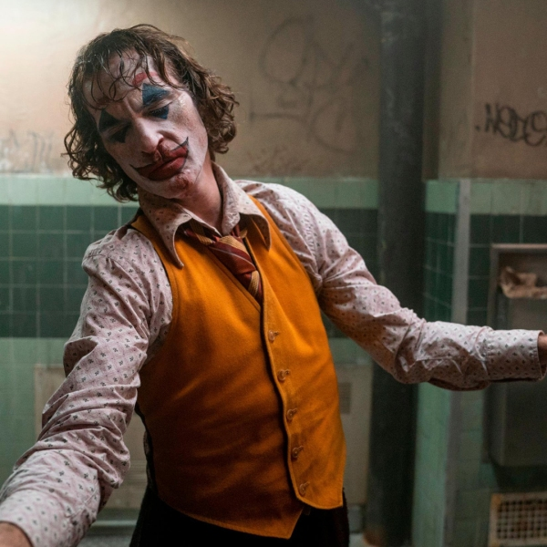 """Warner Bros. Pictures released this image of Joaquin Phoenix as the Joker in its upcoming movie, """"Joker."""""""