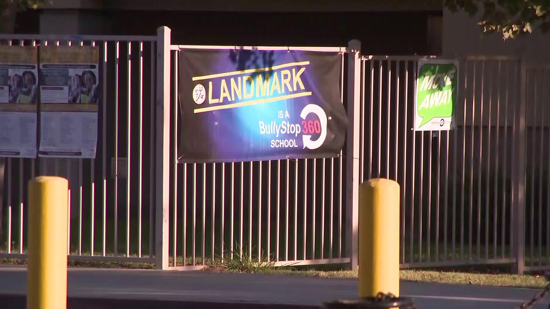 Landmark Middle School in Moreno Valley is seen on Sept. 17, 2019. (Credit: KTLA)