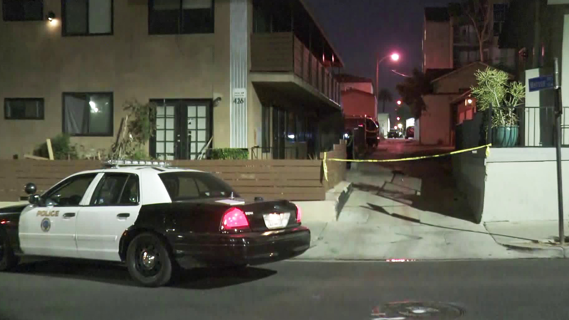 Police investigate a shooting in Long Beach on Sept. 4, 2019. (Credit: KTLA)