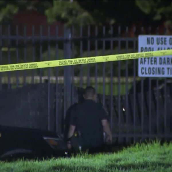 The body of a missing 9-year-old boy with special needs was found in a swimming pool at a park in Inglewood on Sept. 8, 2019. (Credit: KTLA)