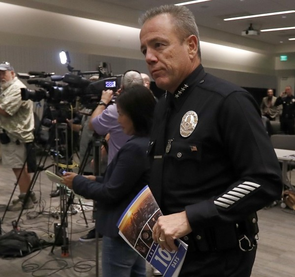 LAPD chief Michel Moore is shown in an undated photo. (Credit: Luis Sinco / Los Angeles Times)