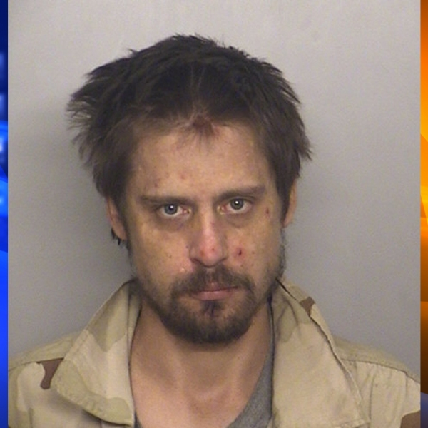Brian Jay Nelson, 33, of Hesperia, pictured in a photo released by the Fontana Police Department following his arrest on Sept. 11, 2019.