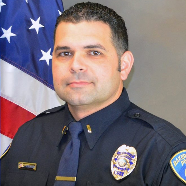 Assistant Chief Evan Demestihas is seen in a photo posted on the Bakersfield Police Department's Facebook page.