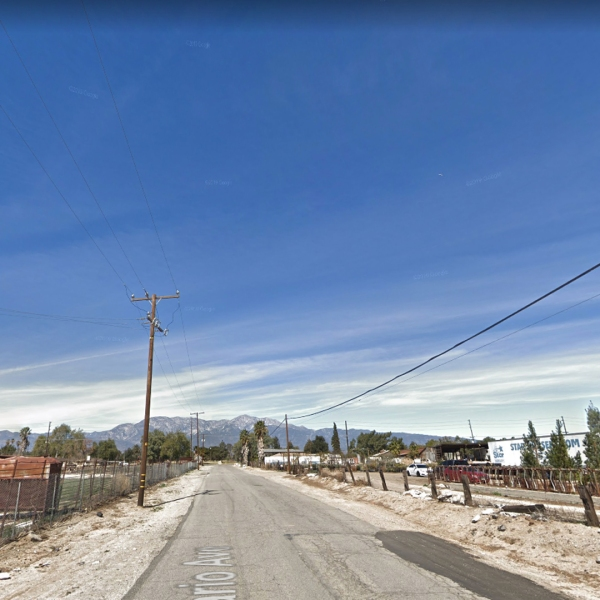 The 13000 block of South Ontario Avenue in Ontario, Calif. appears in an image from Google Maps.