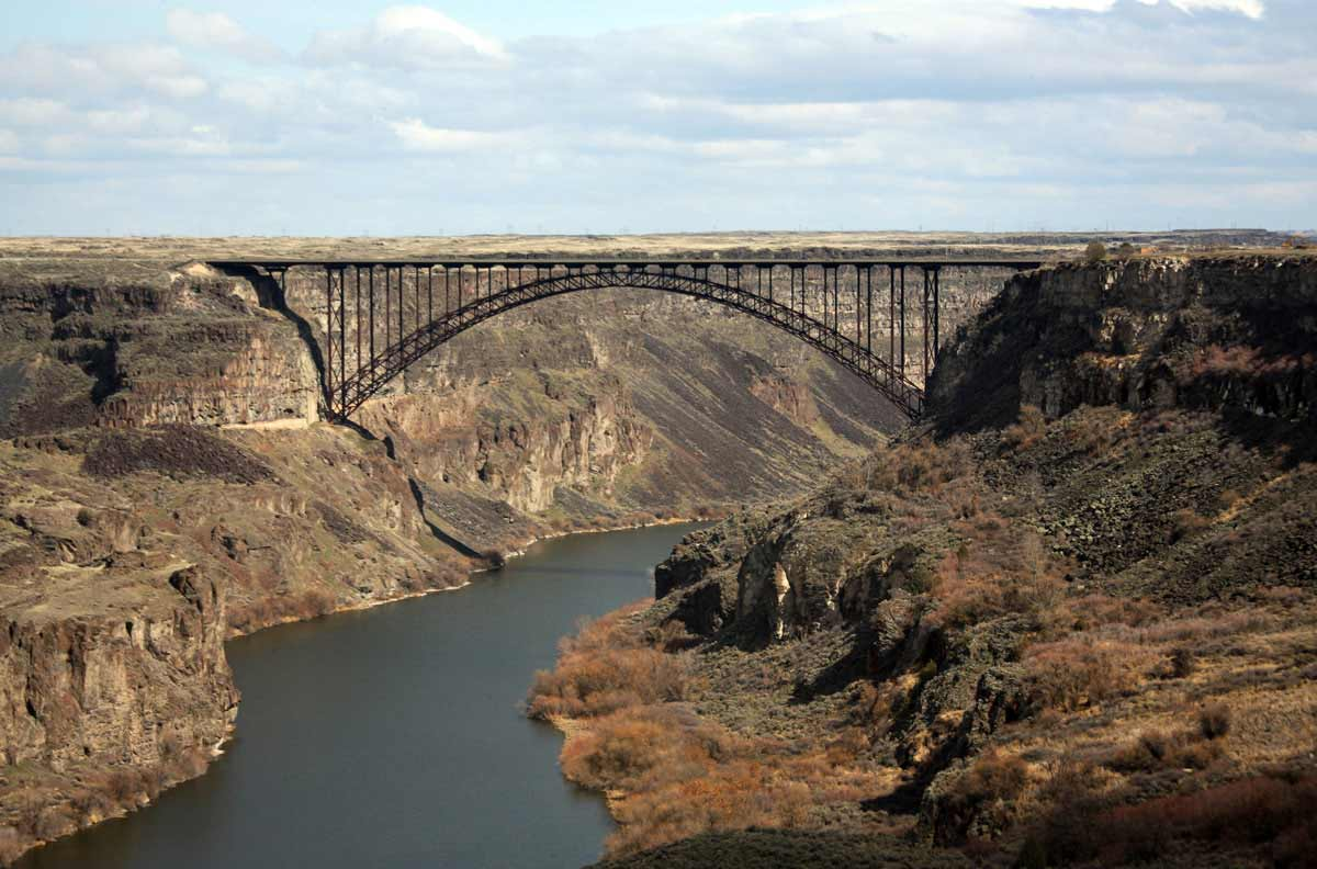 """The Perrine Bridge in Twin Falls, Idaho is seen in an undated photo posted on the """"Visit Idaho"""" website."""