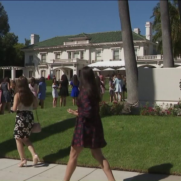 Young women audition for the 2020 Tournament of Roses Royal Court in Pasadena on Sept. 7, 2019. (Credit:KTLA)