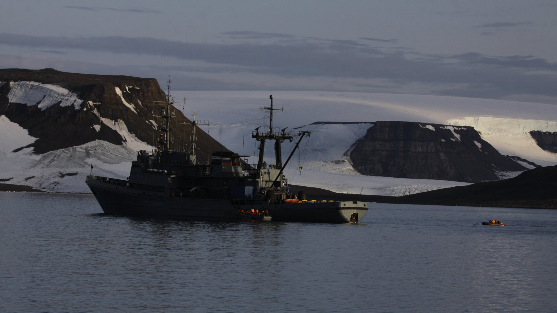 A Russian vessel is seen in a file photo. (Credit: Russian Northern Fleet)