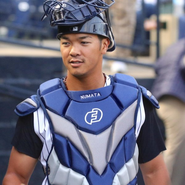 The minor league baseball community is mourning the loss of Detroit Tigers prospect Chace Numata, who died Monday after falling from an electric skateboard last Friday. (Credit: Staton Rabin/Cal Sport Media/AP)