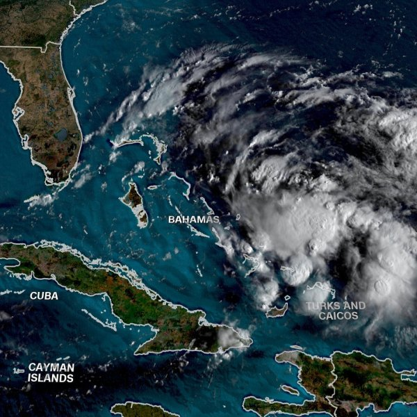 A brewing storm system is posing a new threat to the northern islands of the Bahamas hit hard by Hurricane Dorian, and meteorologists say it could likely become a tropical storm over the weekend. (Credit: CNN)