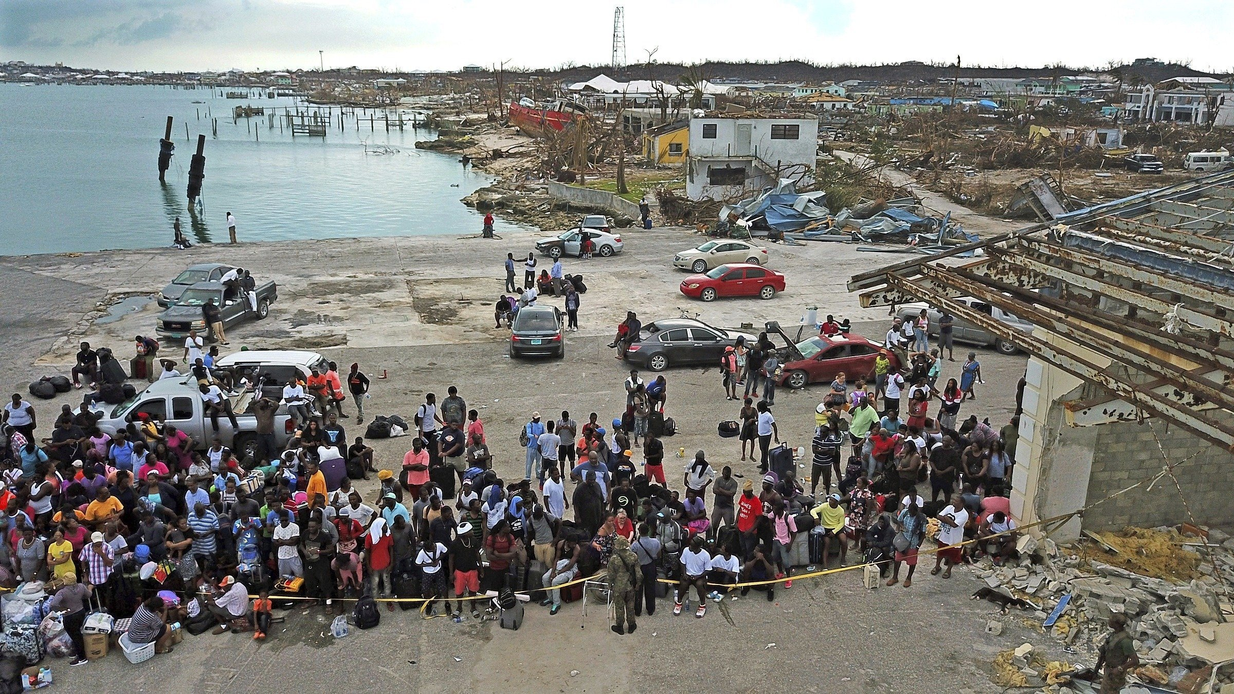 About 3,900 evacuees escaping Hurricane Dorian's devastation in the Bahamas have been processed through south Florida by air and sea, officials said. (Credit: Al Diaz/AP via CNN Wire)