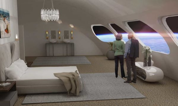 What the space hotel might look like inside. (Credit: Gateway Foundation)