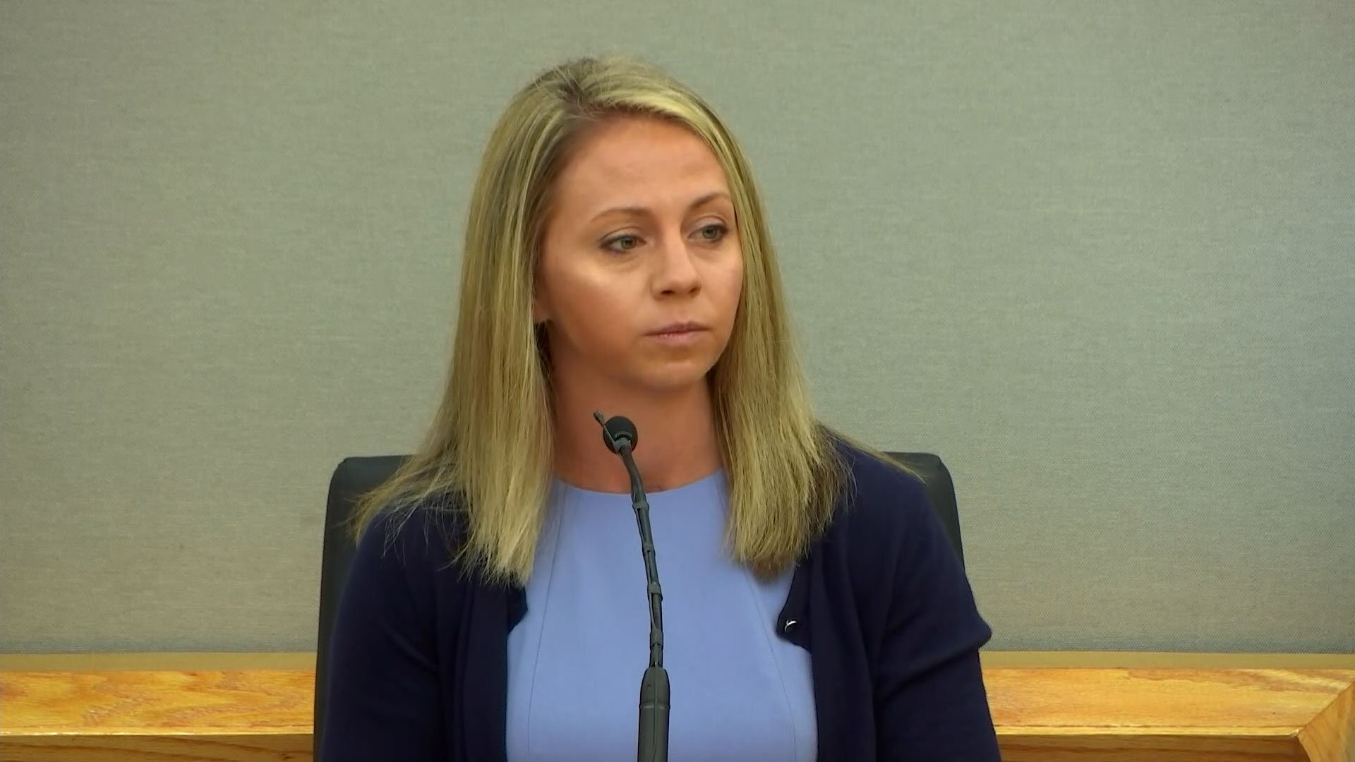 Amber Guyger appears in a Dallas courtroom on Sept. 27, 2019. (Credit: CNN)
