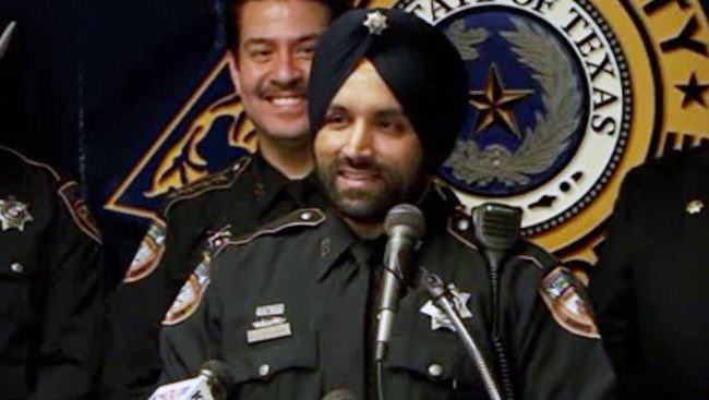 Harris County, Texas, Sheriff's Deputy Sandeep Dhaliwal, pictured in a photo provided by the Harris County Sheriff's Office.