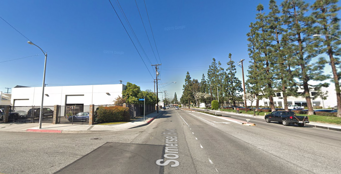 The 7700 block of Somerset Boulevard in Paramount is seen in a Google Maps Street View image.