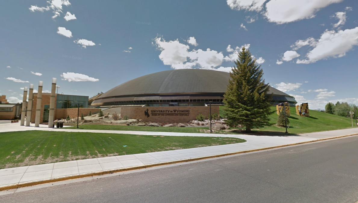 The University of Wyoming campus is seen in this undated photo from Google Maps.