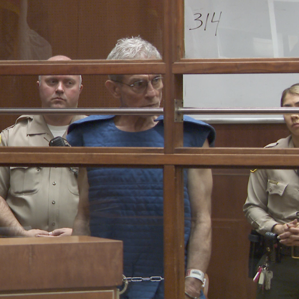 Ed Buck appears at his arraignment in L.A. County court in downtown L.A. on Sept. 19, 2019. (Credit: KTLA)