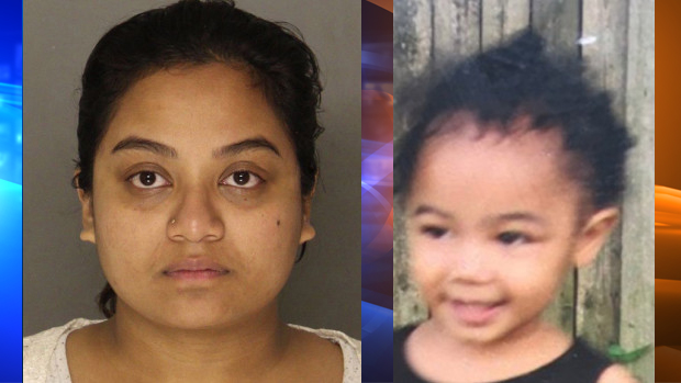 LEFT: Sharena Nancy is seen in this booking photo from the Allegheny County Jail. RIGHT: Nalani Johnson is seen in this undated photo provided by the National Center for Missing and Exploited Children.