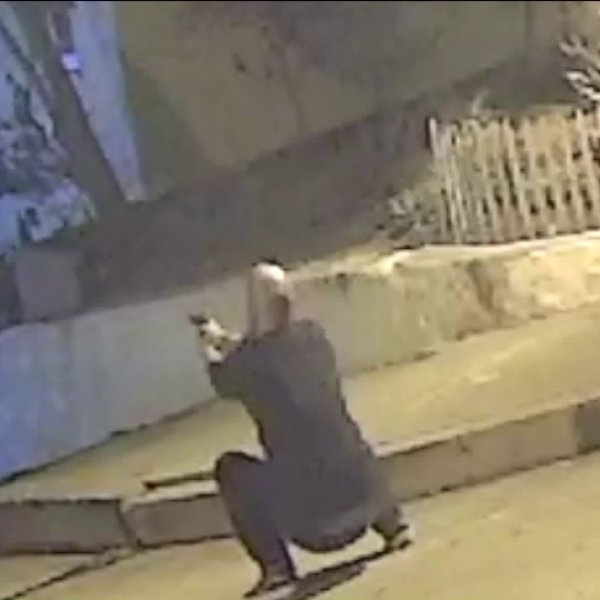 A man is seen on surveillance footage firing a handgun in Silver Lake on Sept. 30, 2019.